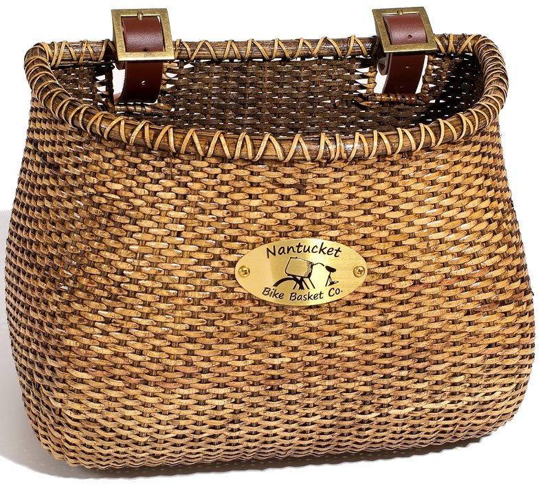 Nantucket Bike Baskets Lightship Stained Rattan Classic