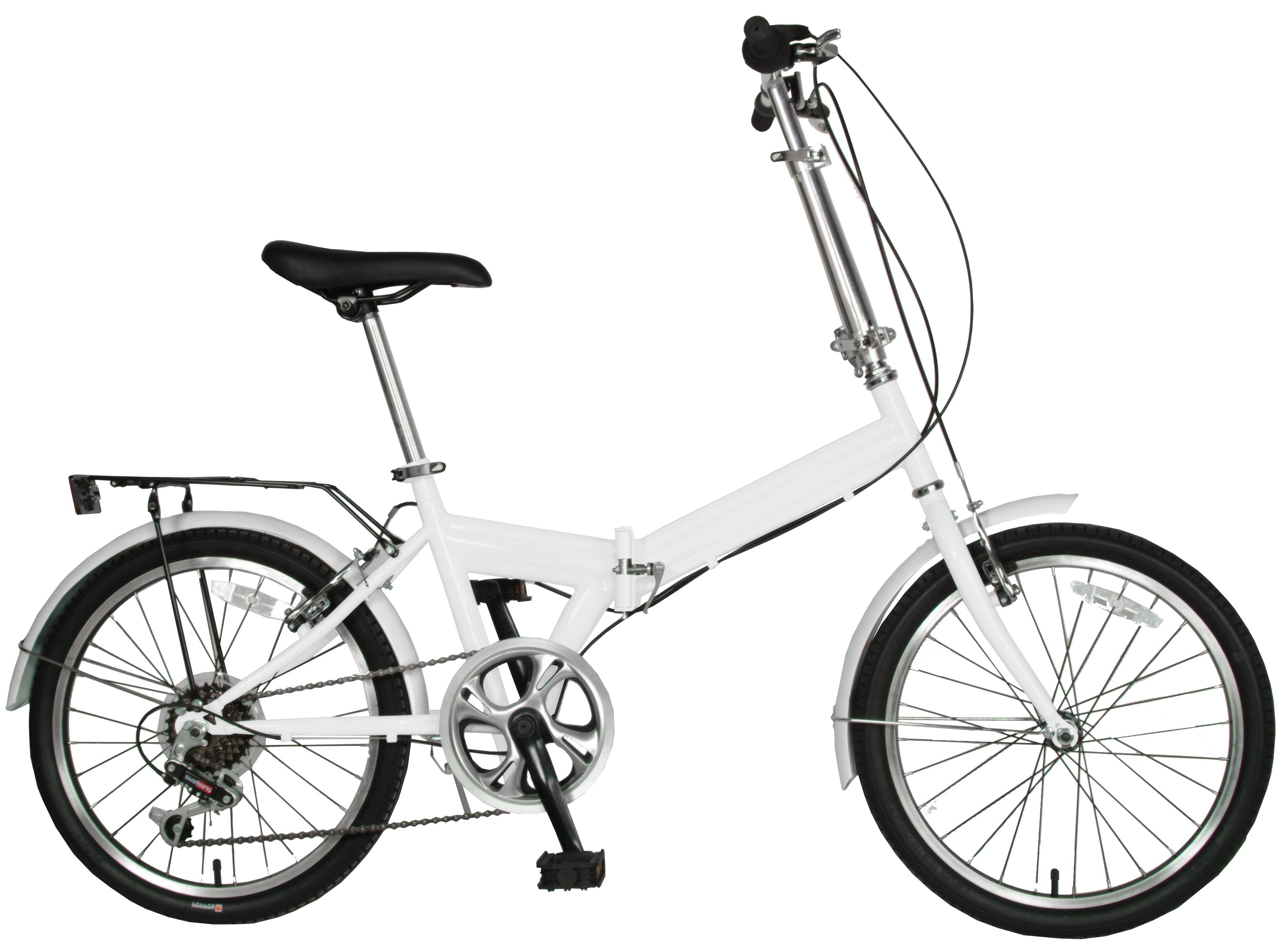 "Cycle Force 20"" Folding Bike White"