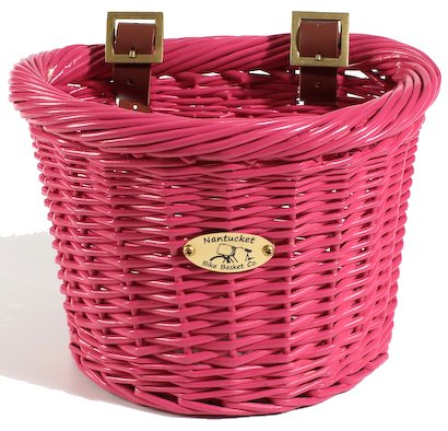 Nantucket Bike Baskets Gull Collection For a Child's Bike Pink
