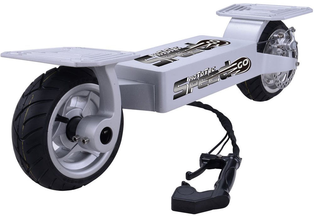 MotoTec Electric Speed Go 36v Silver Skateboard Lithium