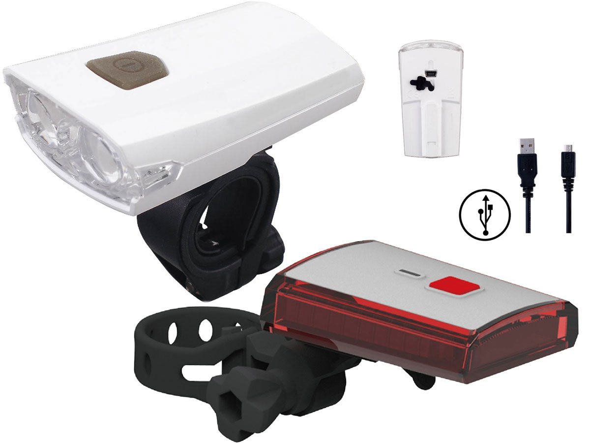 Bright Ideas USB Rechargeable Super Bike Headlight and Taillight