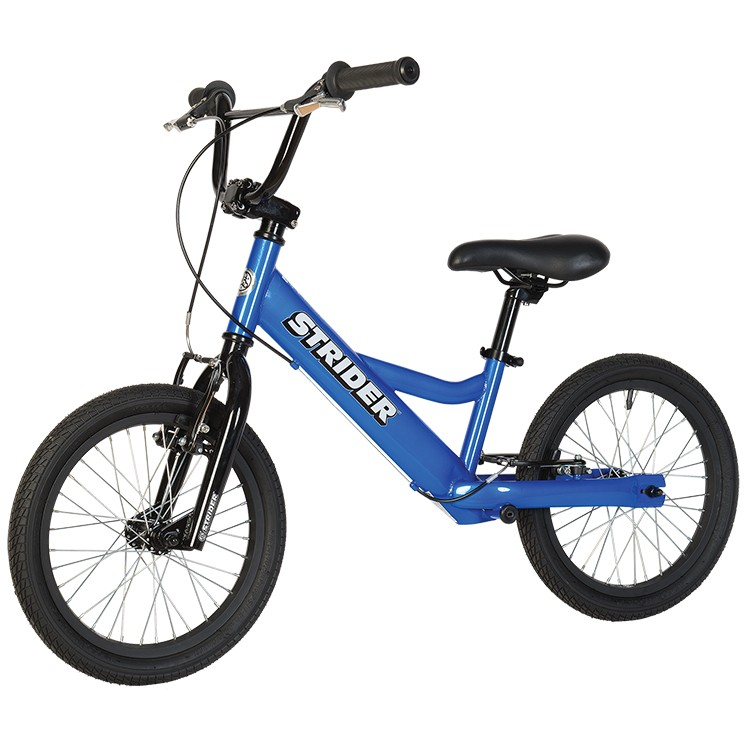 "Strider 16"" Sport No Pedal Balance Bike Blue"