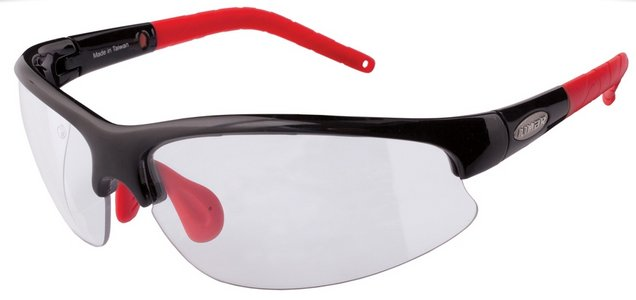 Limar OF 6.5 Polycarbonate Cycling Sunglasses Black / Red RX