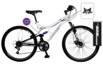 Mantis Womens Orchid 21 Speed Dual Suspension Mountain Bike