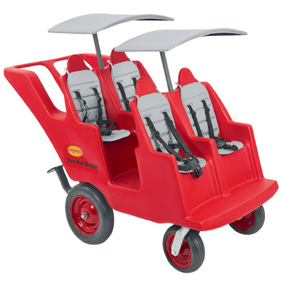 Angeles 4 Seat Bye Bye Never Flat FAT WHEEL Preschool Buggy