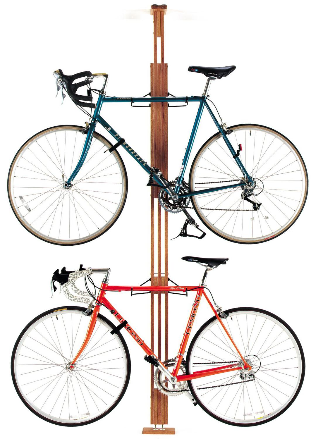 Gear Up OakRack Floor to Ceiling Bicycle Rack