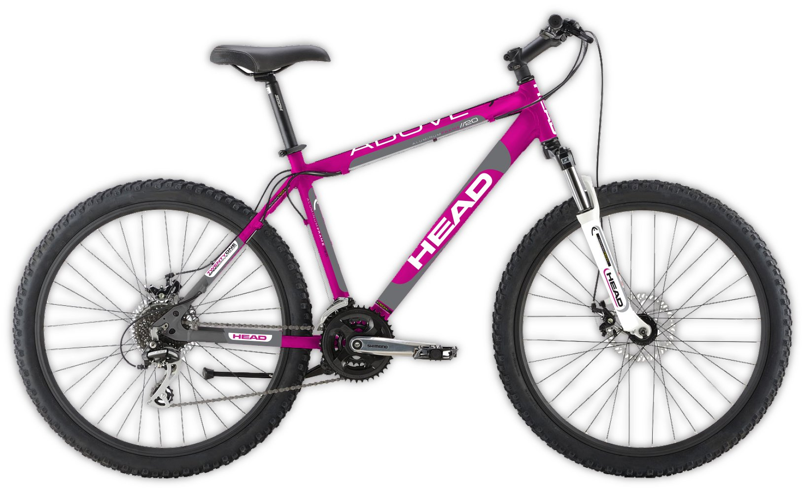 "HEAD Above G20 20"" Girls 21 Speed Mountain Bike Pink 10"" Frame"