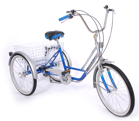 Mission Trilogy 24 6 Speed Adjustable Adult Tricycle