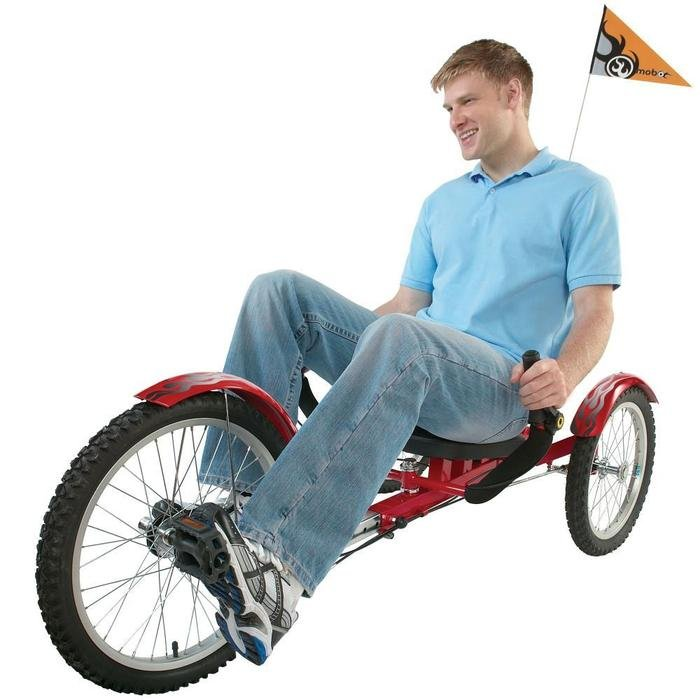 mobo Shift Reversible Three Wheeled Cruiser Recumbent Tricycle