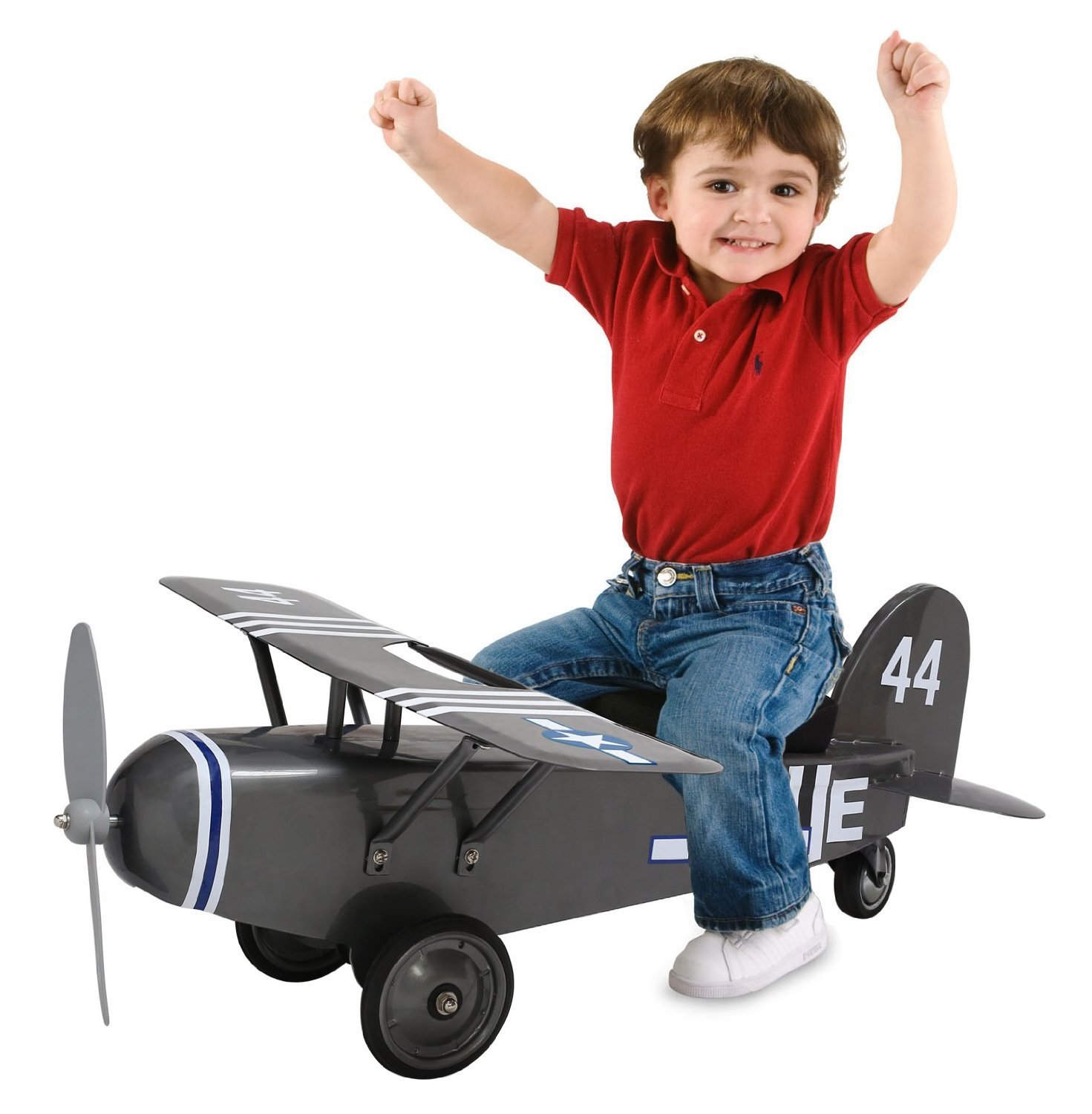 Morgan Cycle Army 44 Airplane Ride On Scoot Foot to Floor