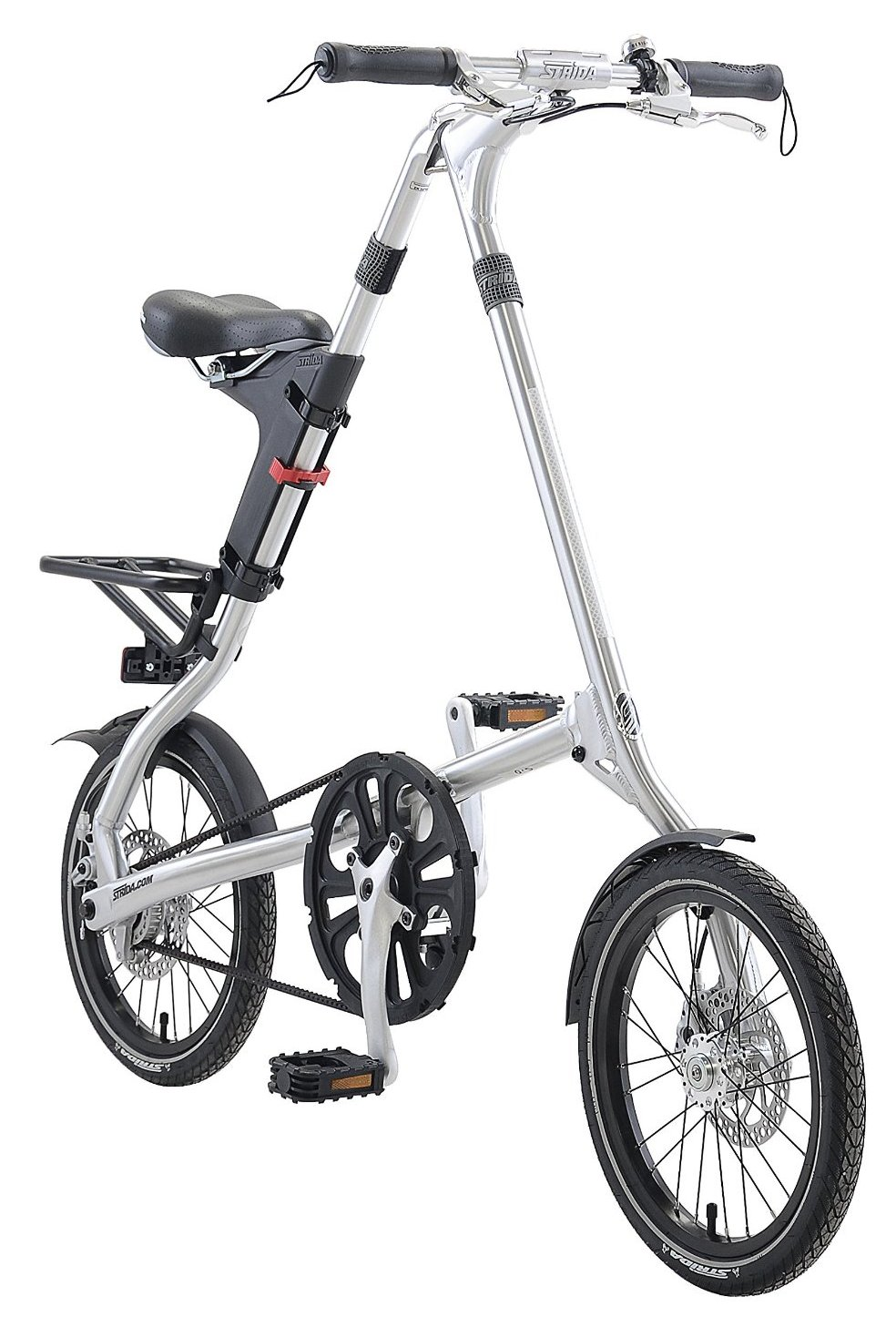 STRiDA 5.0 Silver Folding Urban Single Speed Bike