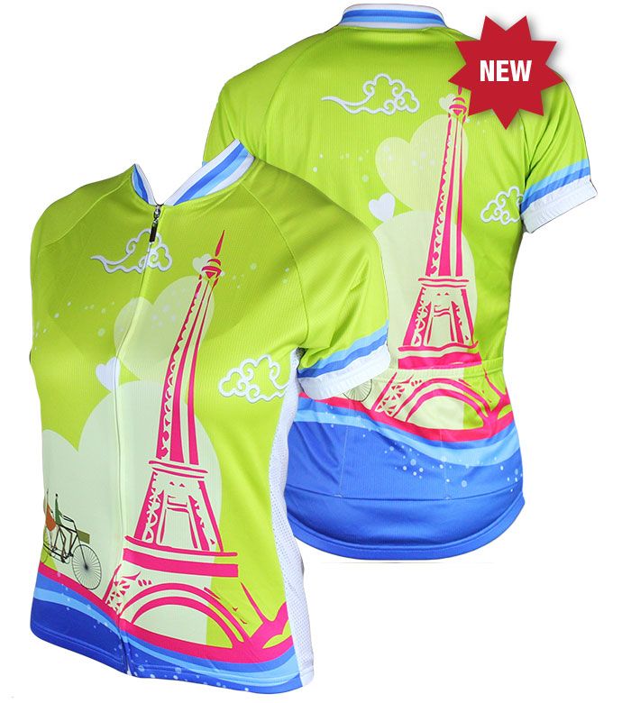 83 Sportswear La Tour Eiffel Woman's Cycling Jersey