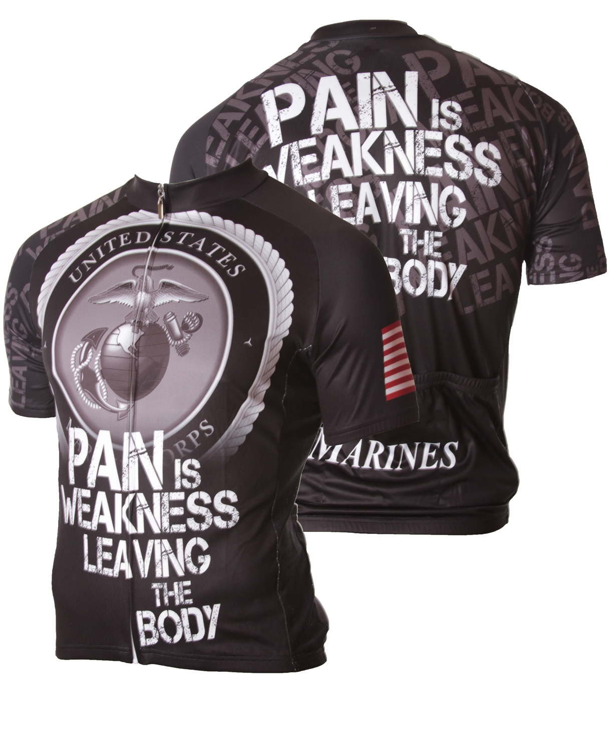 83 Sportswear USMC Pain Is Weakness Cycling Jersey