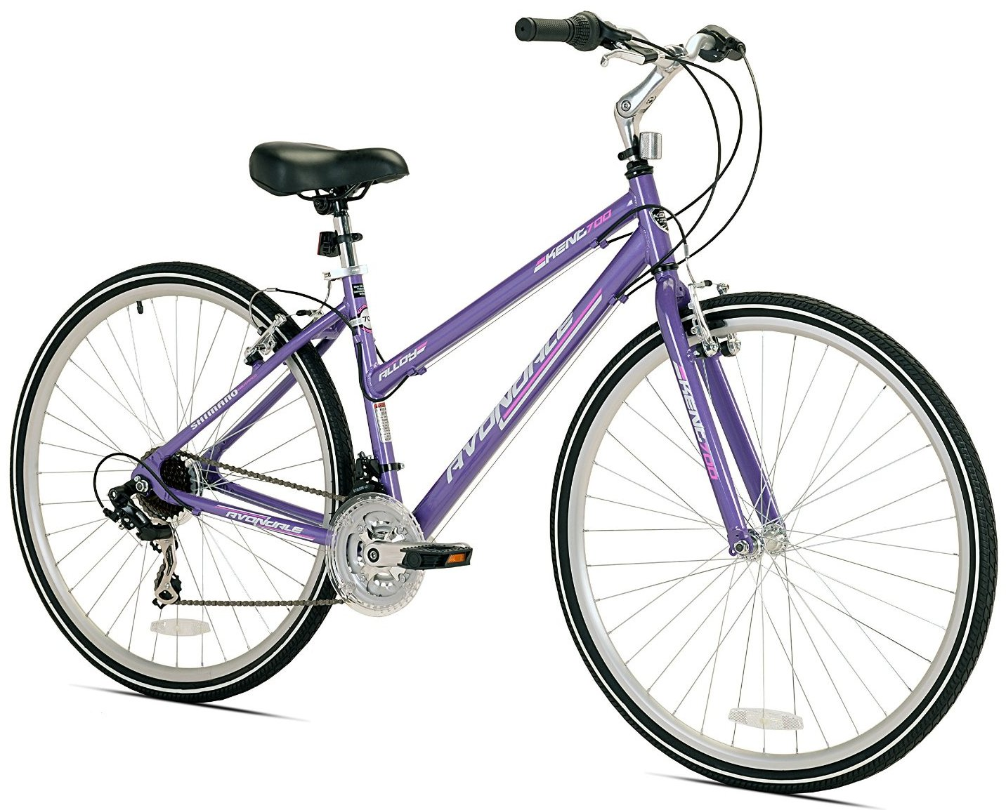Kent Womens Avondale Hybrid 21 Speed Bicycle with Sure Stop Brakes
