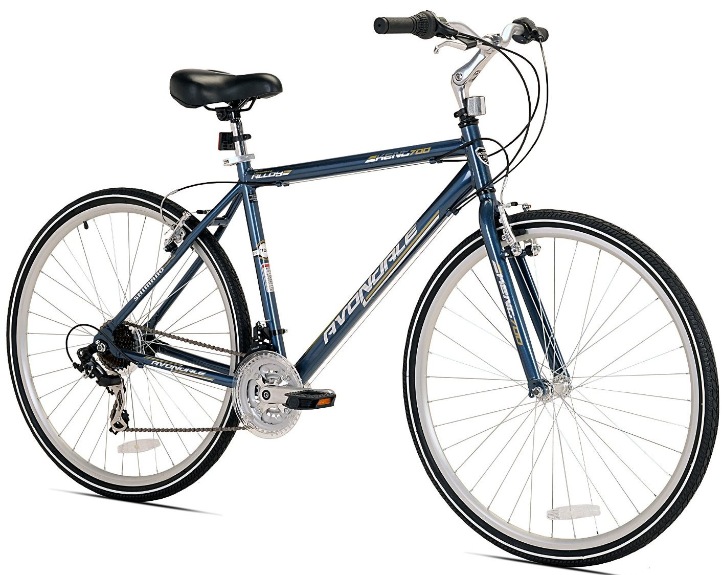 Kent Mens Avondale Hybrid 21 Speed Bicycle with Sure Stop Brakes