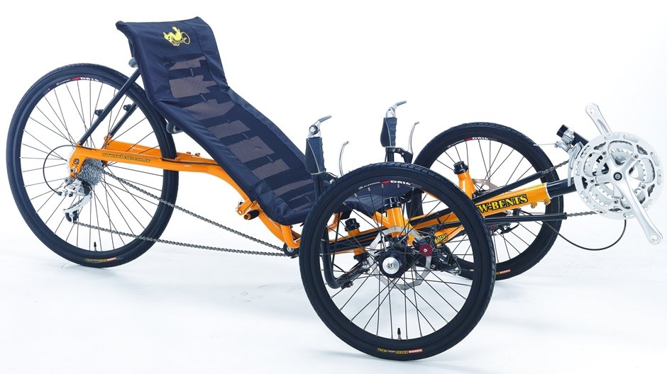TW Bent Artifice Recumbent 24 Speed Folding Tricycle
