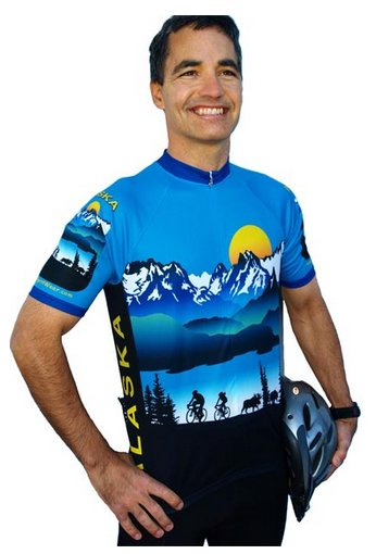 Alaska Scenic Cycling Jersey Large