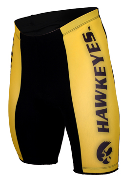 Iowa University Hawkeyes Cycling Shorts