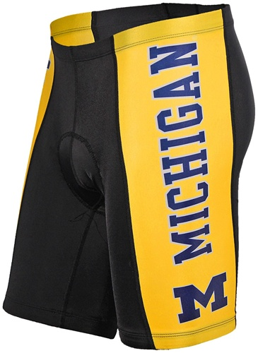 University of Michigan Wolverines Cycling Shorts