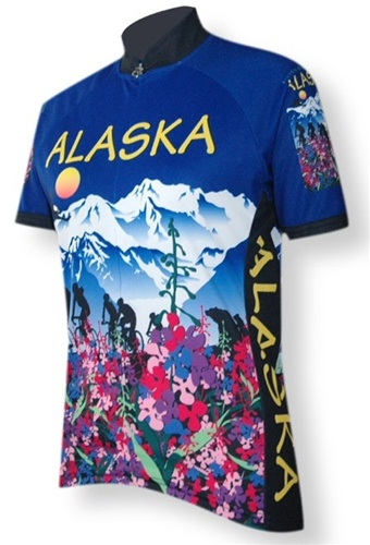Alaska Flower Womens Cycling Jersey