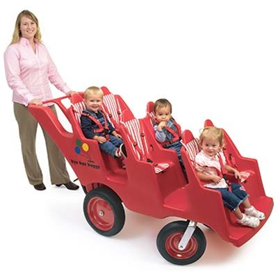 Angeles 6 Seat Bye ByeNever Flat FAT WHEEL Preschool Buggy
