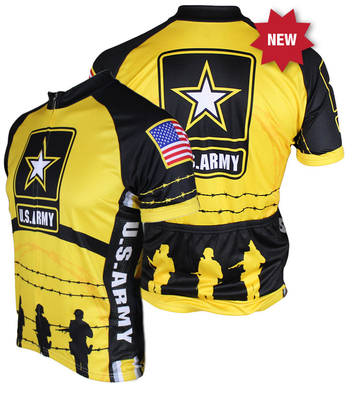 83 Sportswear US Army Cycling Jersey Yellow
