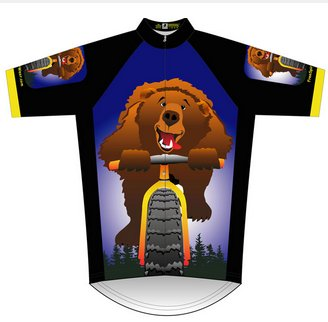 Bear on a Bike Cycling Jersey Large