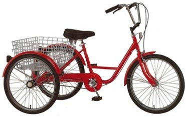 "Tri Rider 24"" Single Speed Coaster Adult Tricycle"
