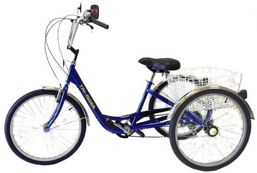 "Tri Rider Deluxe 6 Speed 24"" Adult Tricycle"