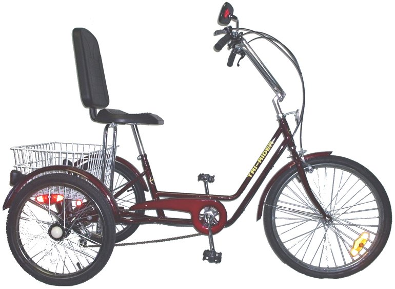 "Tri Rider 24"" Semi Recumbent 6 Speed Comfort Adult Trike"