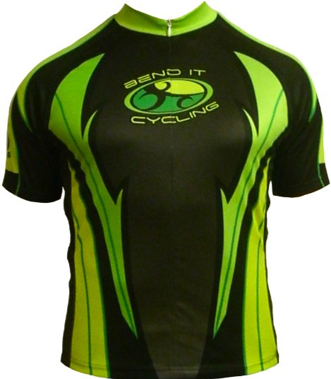 Bend It Neon Flame Recumbent Jersey