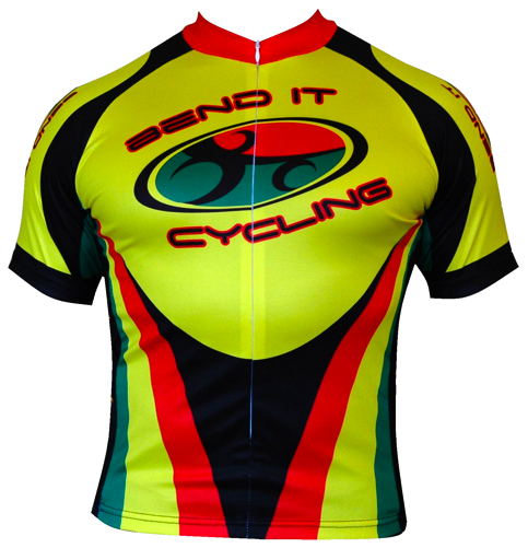 Bend It Rasta Recumbent Cycling Jersey