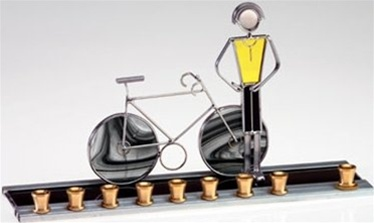Bicycle Chanukah Menorah