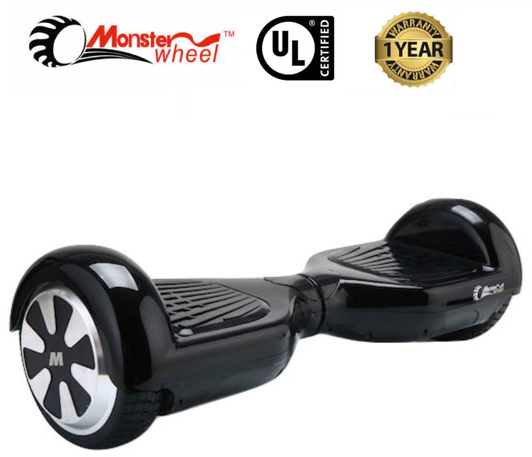 Monster Wheel Hoverboard Black