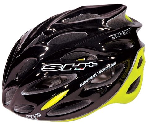 SH Shot Bicycle Helmet BlackYellow