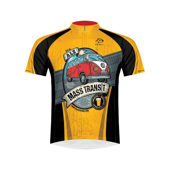 Primal Bristol Brewing Mass Transit Ale Mens Cycling Jersey 2XL
