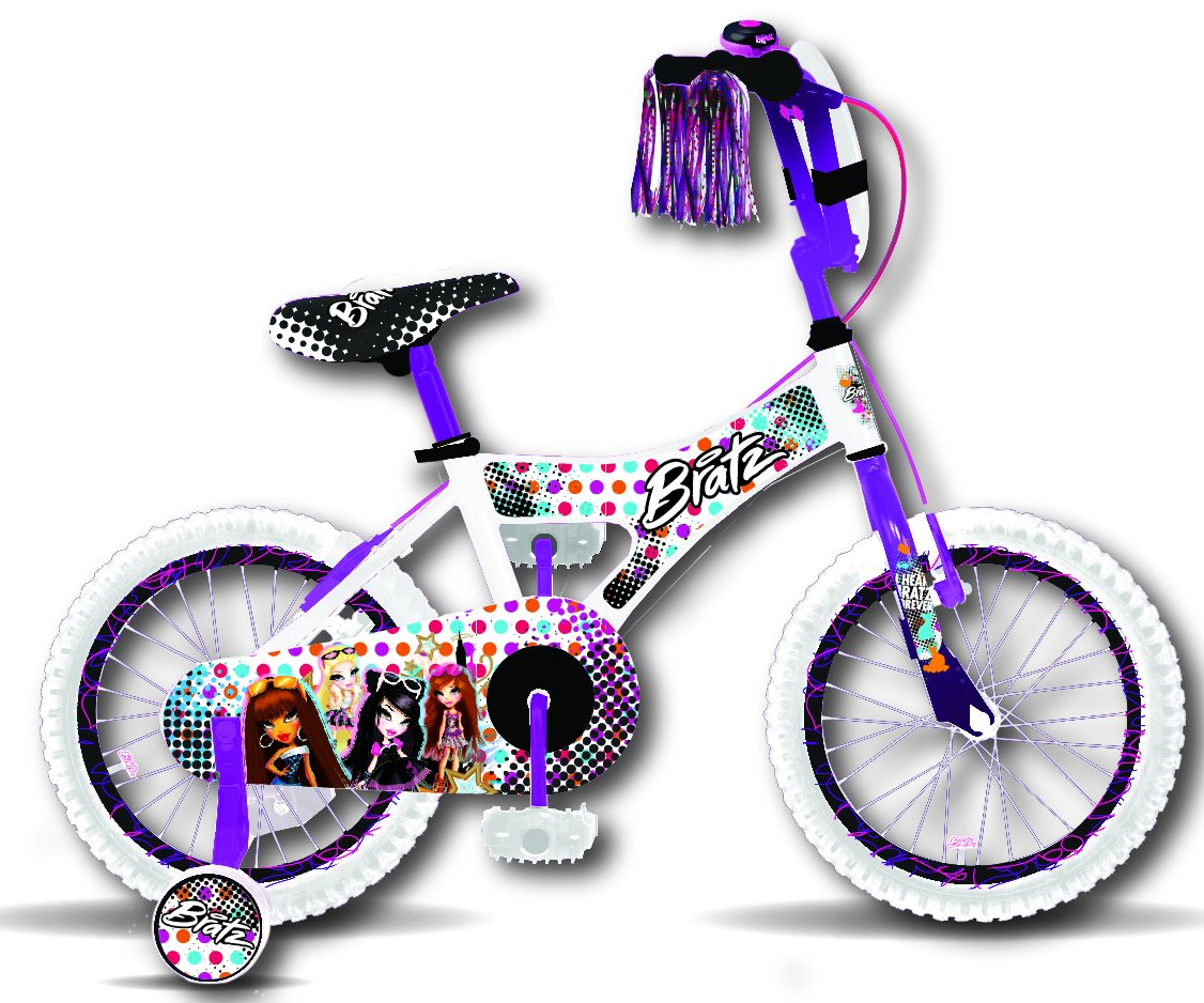 Bratz 16 WhitePurple Bike