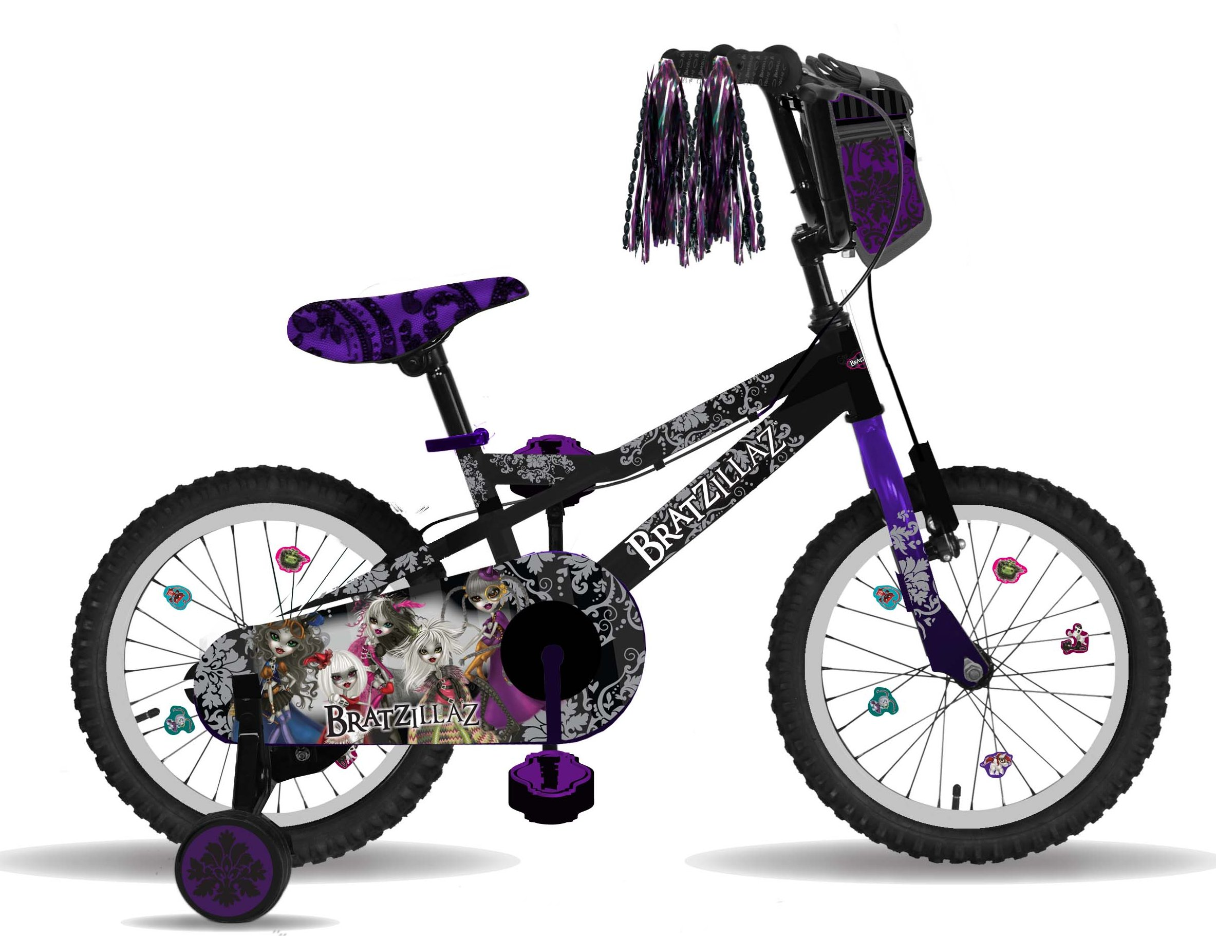 "Bratz 16"" Black/Purple Bike"