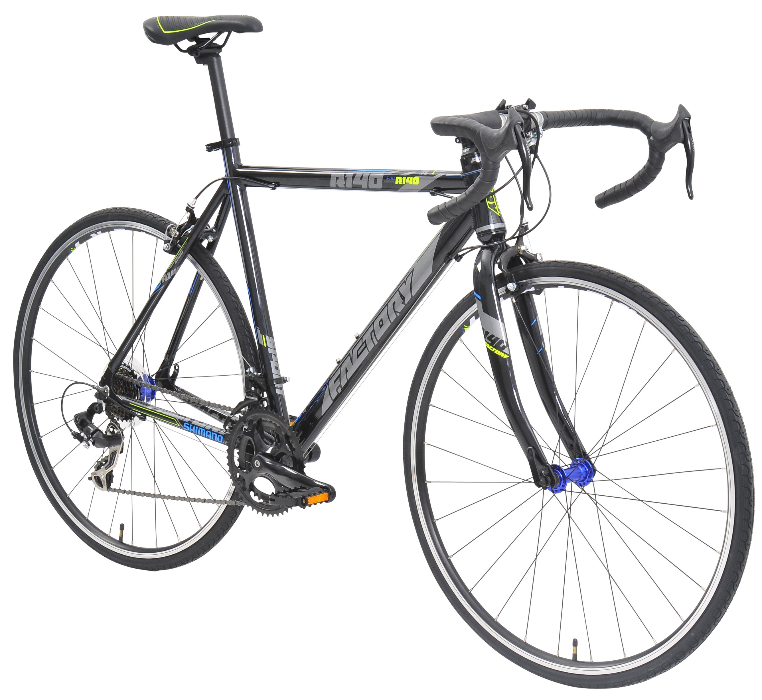 Factory Bicycles R140 14 Speed Road Bike Black Yellow