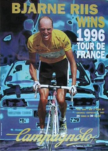 Campagnolo Bjarne Riis Poster 1996 Tour De France