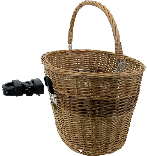 Quick Release Wicker Cycling Basket