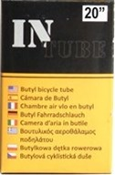 4 Tube Set InTube 20 Bicycle Inner Tubes