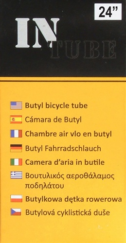 "(4 Tube Set) InTube 24"" Bicycle Inner Tubes"