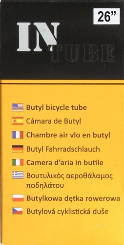 "(4 Tube Set) InTube 26"" Bicycle Inner Tube (Schrader)"