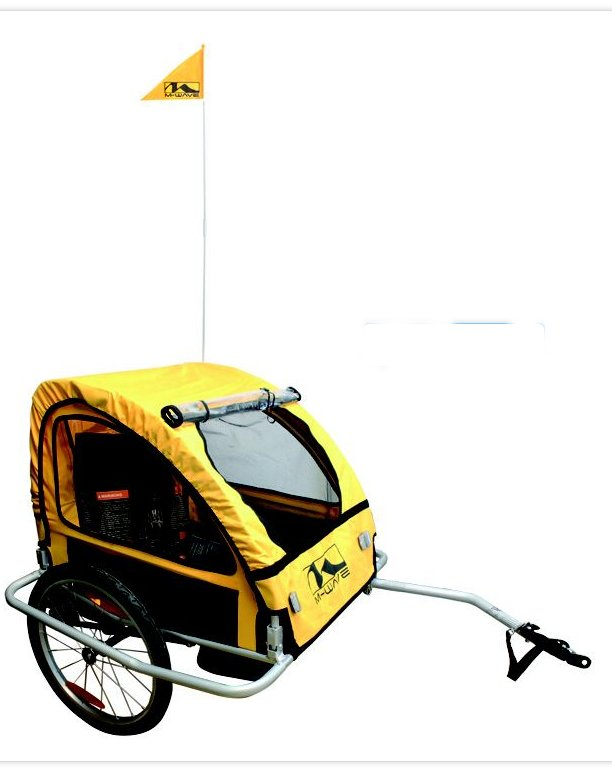 M Wave Child Foldable Bicycle Trailer with Suspension
