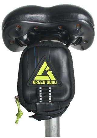 Green Guru Clutch Recycled Bike Tube Saddle Bag
