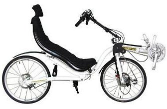 TW Bents 24 Speed Cobra Folding Recumbent Bicycle