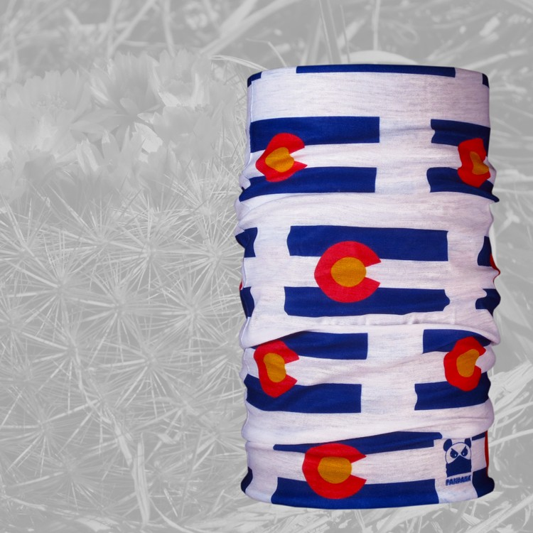 Pandana Bandana Headwear Colorado Flag Blue