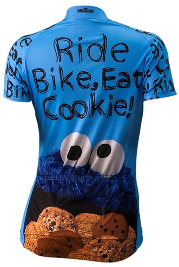 Brainstorm Gear Cookie Monster Womens Cycling Jersey Sesame 2XL
