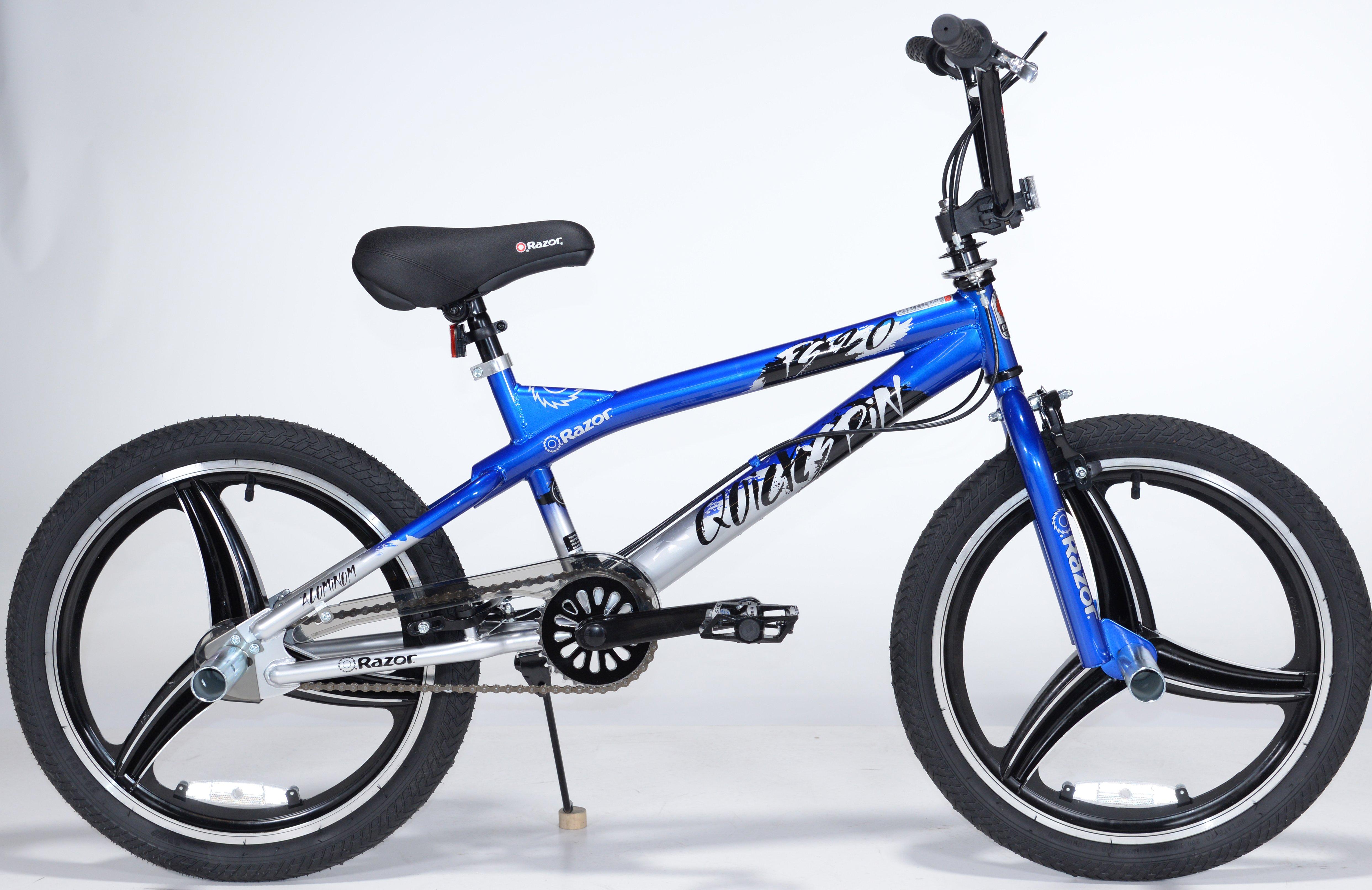 Razor boy s 20 mag wheel quick spin boys bicycle blue